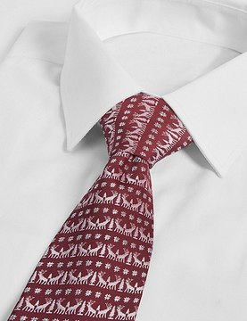 Marks and Spencer Christmas Motif Novelty Tie