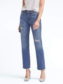 Banana Republic Fray-Hem Vintage Straight Jean