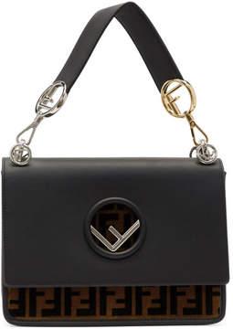 Fendi Black and Tan Regular Kan I F Bag
