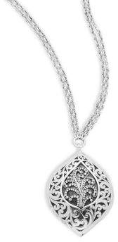 Lois Hill Sterling Silver Cutout Pendant Necklace