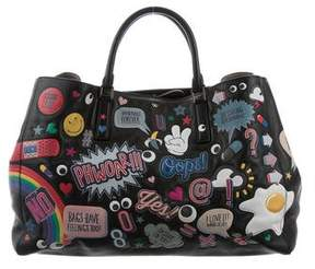 Anya Hindmarch Stickers All Over Wink Ebury Tote