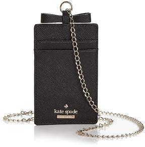 Kate Spade Cameron Street Lanyard Card Case - BLACK/GOLD - STYLE