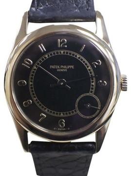 Patek Philippe Calatrava 5000 18K Yellow Gold / Leather 35mm Mens Watch