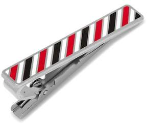 Cufflinks Inc. Varsity Stripes Black, Red, and White Tie Clip