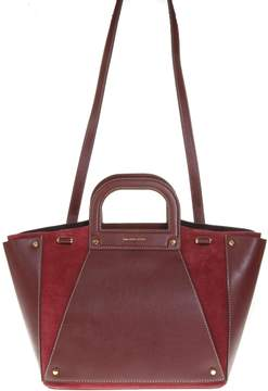 MICHAEL Michael Kors Leather And Suede Red Bag