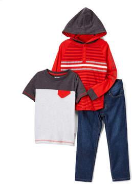 DKNY High Risk Red City Lights Hoodie Set - Infant, Toddler & Boys