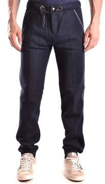 Frankie Morello Men's Blue Cotton Pants.