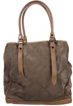 Burberry Leather-Trimmed Leyland Satchel