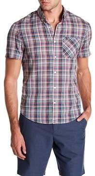 Original Penguin Plaid Short Sleeve Heritage Slim Fit Shirt