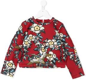DSQUARED2 floral-print sweatshirt