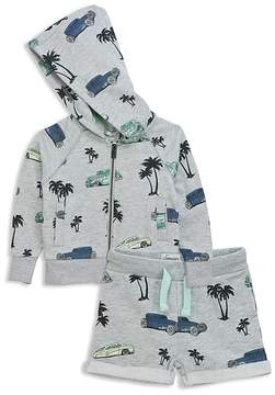 Sovereign Code Boys' Tropical Vintage Car Print French Terry Zip-Up Hoodie & Shorts Set - Baby
