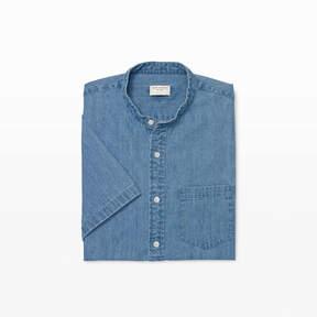 Club Monaco Slim Band-Collar Denim Shirt