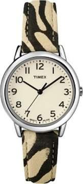 Timex Women's Leopard Pattern Strap Dress Watch