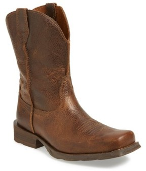 Ariat Men's 'Rambler' Square Toe Leather Cowboy Boot