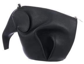 Loewe Leather Elephant Zip Bag