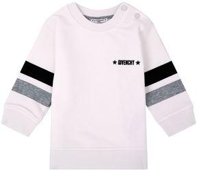 Givenchy Logo Striped Sleeve Sweatshirt