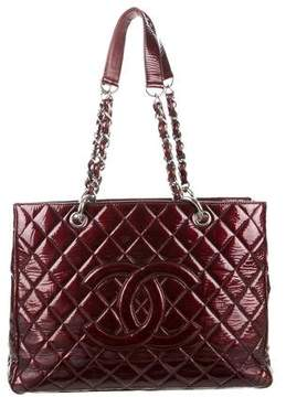 Chanel Patent Grand Shopping Tote