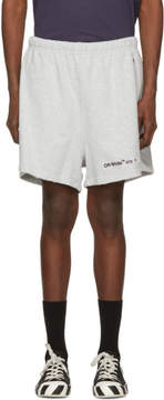 Off-White Grey Champion Reverse Weave Edition Lounge Shorts