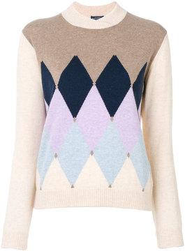 Ballantyne triangular knit sweater