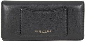 Marc Jacobs Black Pebble Leather Recruit Tomoko Clutch Wallet - BLACKS - STYLE