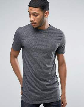 New Look Longline T-Shirt With Crew Neck In Gray
