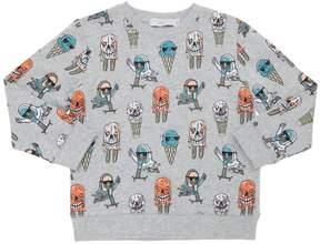 Stella McCartney Monster Ice Cream Cotton Sweatshirt