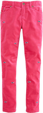 Vineyard Vines Girls Whale Embrioidered Velveteen Pants