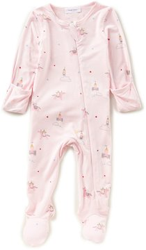 Angel Dear Baby Girls Newborn-6 Months Unicorn-Print Footed Coverall