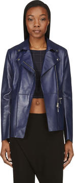 CNC Costume National Indigo Lambskin Jacket