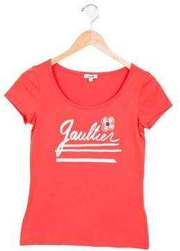Junior Gaultier Girls' Nate Printed Top w/ Tags