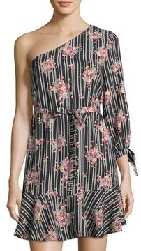 Collective Concepts One-Shoulder Print Dress