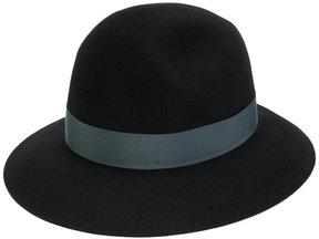 Borsalino wide brim ribbon detail hat