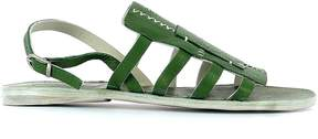 Henry Beguelin Green Leather Sandals