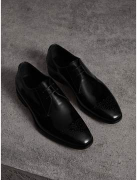 Burberry Perforated Detail Leather Derby Shoes