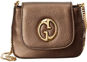 Gucci Brown Metallic Leather 1973 Mini Shoulder Bag - ONE COLOR - STYLE