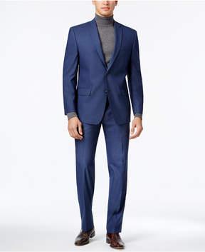 Andrew Marc Men's Classic-Fit Blue Neat Suit