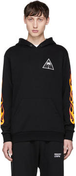 Palm Angels Black Palms and Flames Hoodie