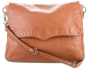Rebecca Minkoff Leather Messenger Bag - BROWN - STYLE