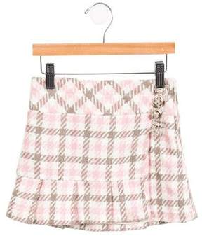 Florence Eiseman Girls' Tweed Houndstooth Skirt
