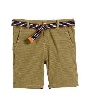 Mayoral Striped Cotton Shorts w/ D Ring Belt, Size 4-7
