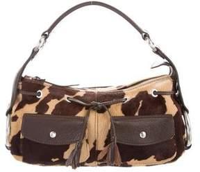 Hogan Leather-Trimmed Ponyhair Bag