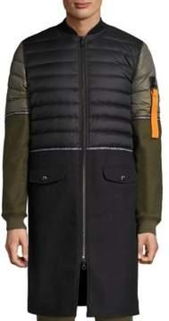 Mostly Heard Rarely Seen Hybrid Zippered Jacket