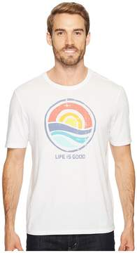Life is Good Color Block Sunrise Smooth Tee