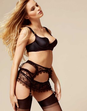 Agent Provocateur Greta Suspender Black