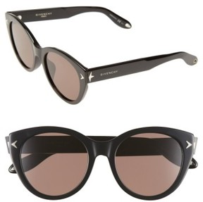Women's Givenchy 54Mm Round Sunglasses - Black/ Brown
