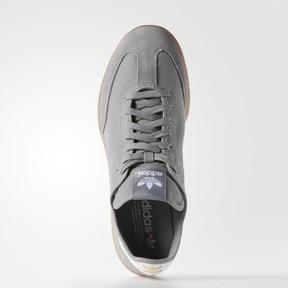 adidas Men's Samba MC Lifestyle Indoor Soccer-Style Sneaker, Solid Grey/Running White/Metallic/Gold, 11.5 M US
