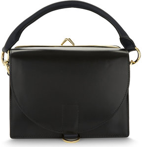 Sacai Hybrid leather satchel