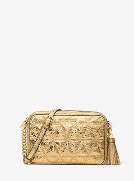 Michael Kors Ginny Metallic Quilted-Leather Crossbody - GOLD - STYLE