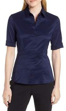 BOSS Bashini Stretch Poplin Blouse