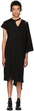Facetasm Black Asymmetric Mantle T-Shirt Dress